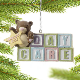 Personalized World's Best Daycare Christmas Ornament