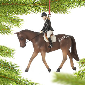 Personalized English Riding Girl Christmas Ornament