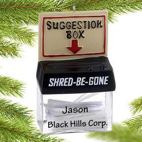 Personalized Office Suggestion Box Christmas Ornament