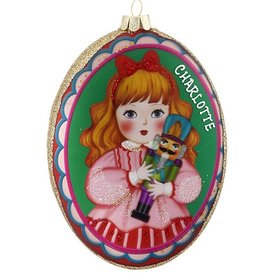 Personalized Clara with Nutcracker Disc Christmas Ornament