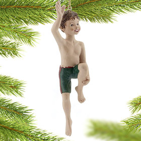 Jumping in the Water Boy Christmas Ornament