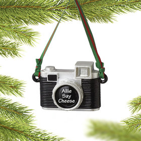 Personalized Photographer Camera Christmas Ornament