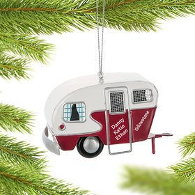 Personalized Trailer Camper Christmas Ornament