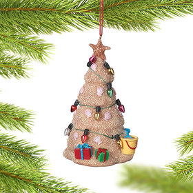 Personalized Beach Sand Christmas Tree Christmas Ornament