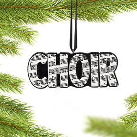 Personalized Choir Word Christmas Ornament