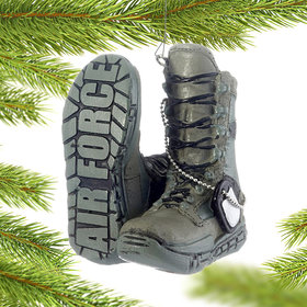 Personalized Military Boots (Air Force) Christmas Ornament