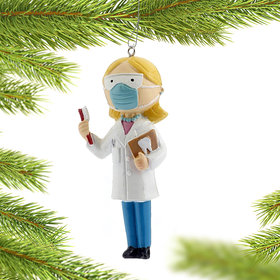 Female Dentist Christmas Ornament