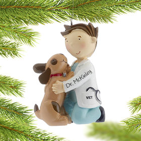 Personalized Male Vet Christmas Ornament