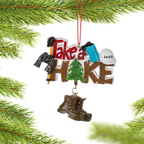 Personalized Take A Hike Christmas Ornament