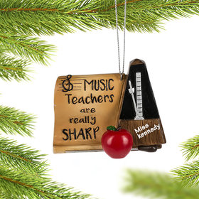 Personalized Music Teachers are Really Sharp Christmas Ornament