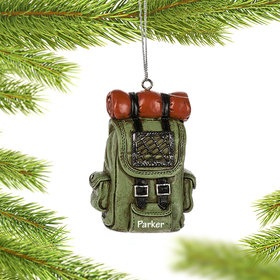 Personalized Hiking Backpack Christmas Ornament