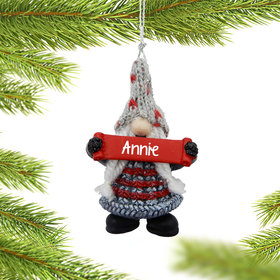 Personalized Gnome Christmas Ornament