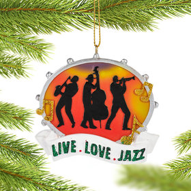 Personalized Live Love Jazz Christmas Ornament