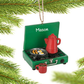 Personalized Camp Stove Christmas Ornament