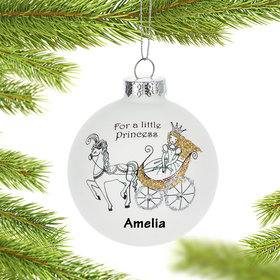 Personalized For a Little Princess Christmas Ornament