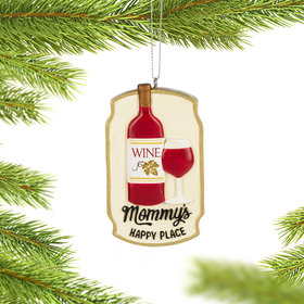 Personalized Mommy's Happy Juice Christmas Ornament
