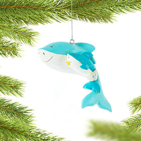Personalized Shark with Baby Shark Christmas Ornament