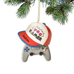 Personalized Pro Gamer Christmas Ornament