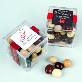 Personalized Nurse Appreciation JUST CANDY® favor cube with Premium New York Espresso Beans