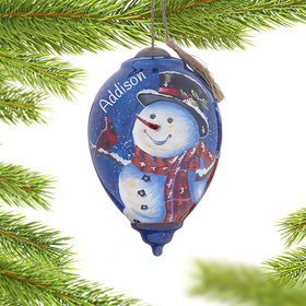 Personalized Magic of Christmas Snowman Christmas Ornament