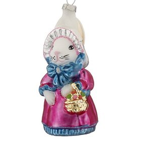Easter Bunny Female Christmas Ornament