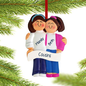 Personalized Friends or Sisters Christmas Ornament