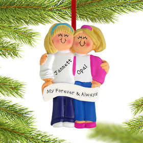 Personalized Couple Christmas Ornament