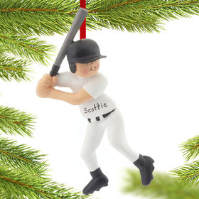 Personalized Baseball Player Christmas Ornament