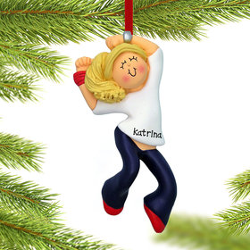 Personalized Hip Hop Dancer Female Christmas Ornament