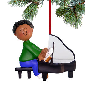 Piano Player Male Christmas Ornament