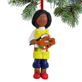 Artist Female Christmas Ornament