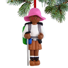 Hiker Female Christmas Ornament