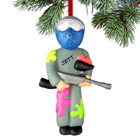 Personalized Paintball Weekend Warrior Christmas Ornament