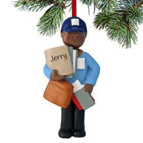 Personalized Mailman Delivering The Mail Christmas Ornament