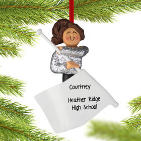 Personalized Color Guard Christmas Ornament