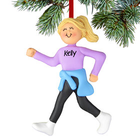 Personalized Power Walker Female Christmas Ornament