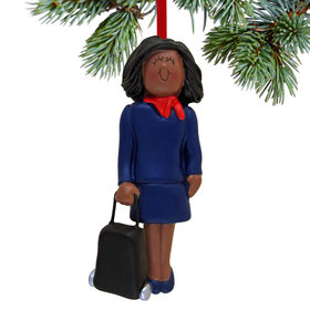 Flight Attendant, Businesswoman, Traveler Christmas Ornament