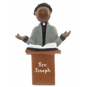 Personalized Ethnic Minister Male Christmas Ornament