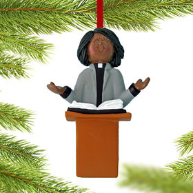 Minister Female Christmas Ornament