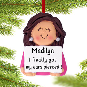 Personalized Earrings Female Christmas Ornament