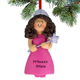 Personalized Glitter Princess Christmas Ornament