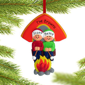 Personalized Camping Couple Christmas Ornament