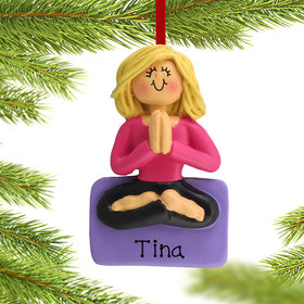 Personalized Yoga Female Christmas Ornament
