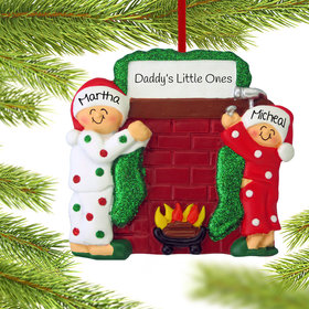 Personalized Hanging Stockings Siblings Christmas Ornament