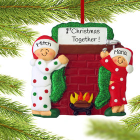 Personalized Hanging Stockings Couple Christmas Ornament