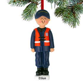 Personalized Armed Forces Coast Guard Male Christmas Ornament