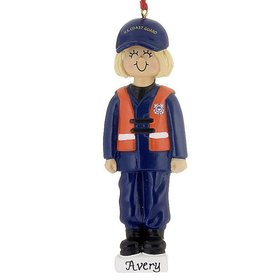 Personalized Armed Forces Coast Guard Female Christmas Ornament