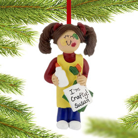 Personalized Arts and Crafts Project Girl Christmas Ornament