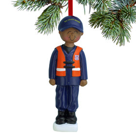 Armed Forces Coast Guard Male Christmas Ornament