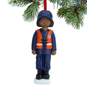 Armed Forces Coast Guard Female Christmas Ornament